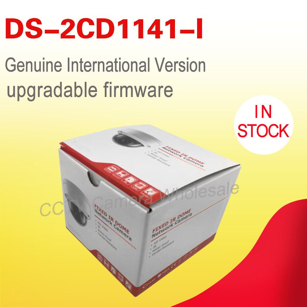 In stock DS-2CD1141-I English version 4MP mini dome POE cctv camera replace DS-2CD2145F-IS, IP camera H.264+ Hik connect