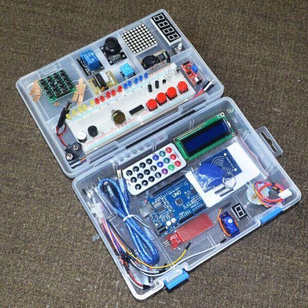 Le plus récent Kit de démarrage RFID pour Arduino UNO R3 version améliorée Suite d'apprentissage avec boîte de vente au détail