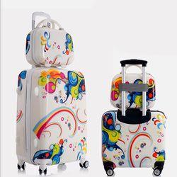 Valise Trolley Bagages à Roulettes Ensemble Belle Adulte Enfant Enfants Valise Bagages à main Voyage Sac D'embarquement Boîte Koffers Chariots