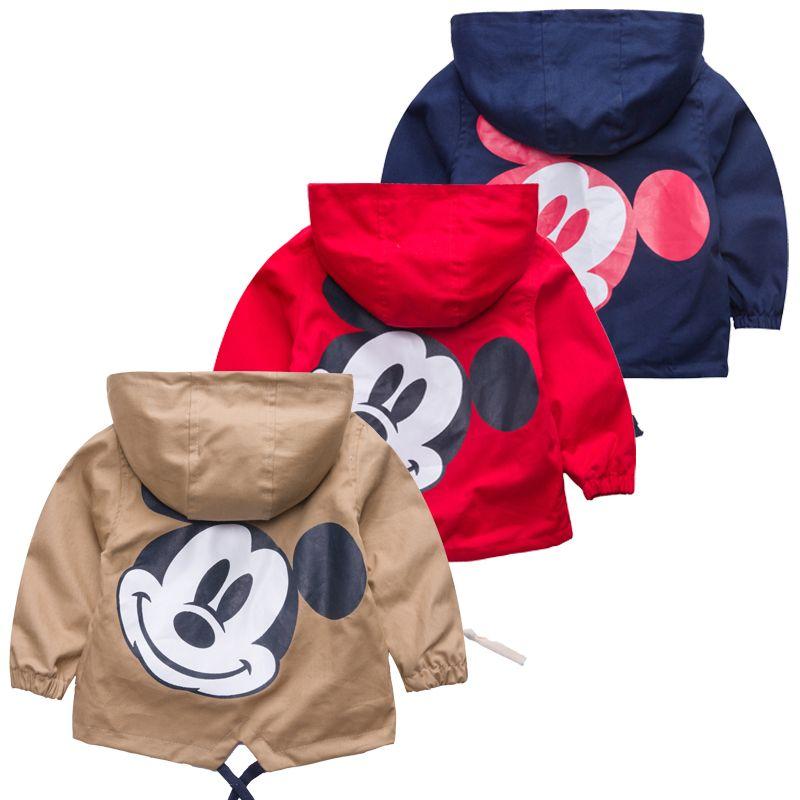 2018 nueva chaqueta de los niños del otoño del resorte imprimir Bebé Ropa niños Outwear la ropa de los cabritos