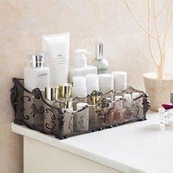 Maquillaje organizador de cosméticos caja de almacenamiento maquillaje cajas de almacenamiento baño accesorios de escritorio organizador