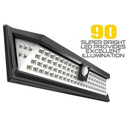 Impermeable 34/54/66/90 LED light/luz Solar jardín al aire libre luz IP65 PIR sensor de movimiento de emergencia Solar de pared Lam