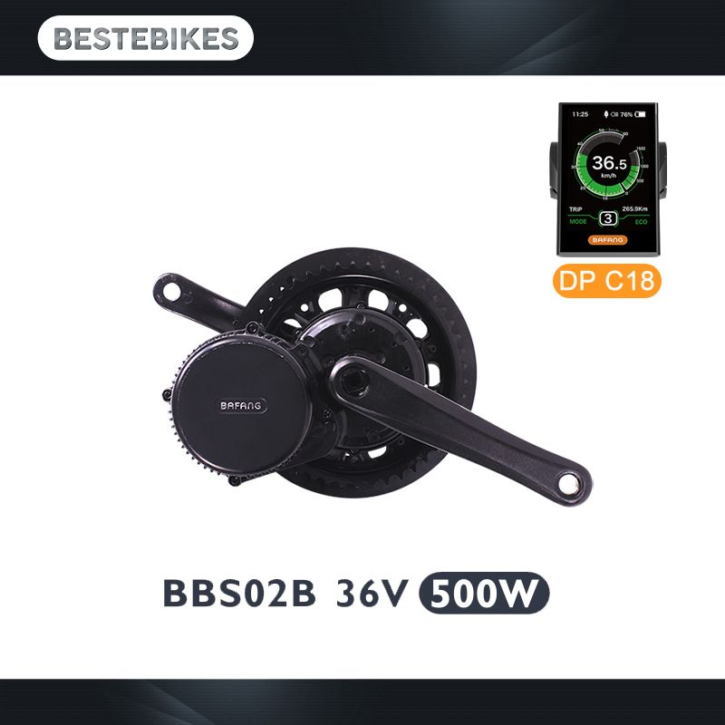 Bafang 8fun BBS02B 36V500W mid drive motor diy electric bicycle conversion kit electric bike kit ebikes kit electric bike motor