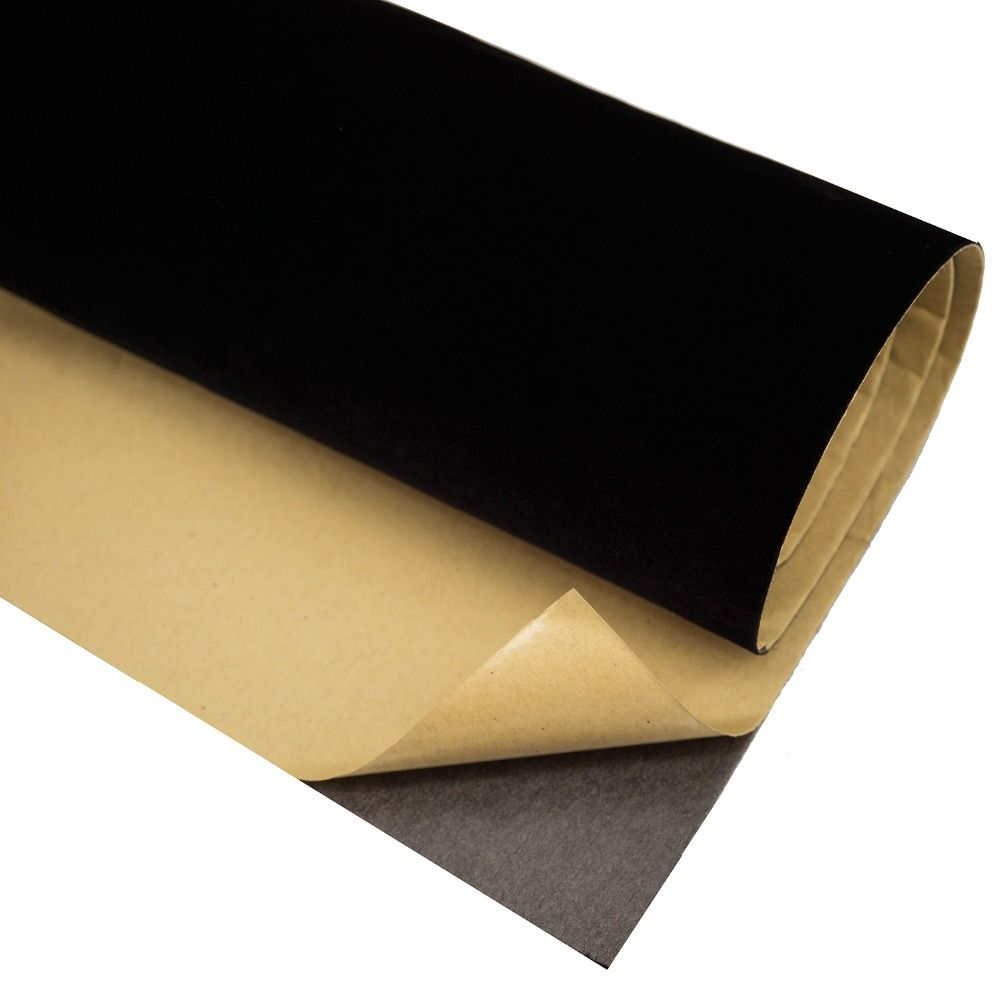 Self Adhesive Black Velvet Flocked Liner Jewelry Drawer Sound-absorbing Contact Paper Peel Sticker DIY Sticky Craft Fabric