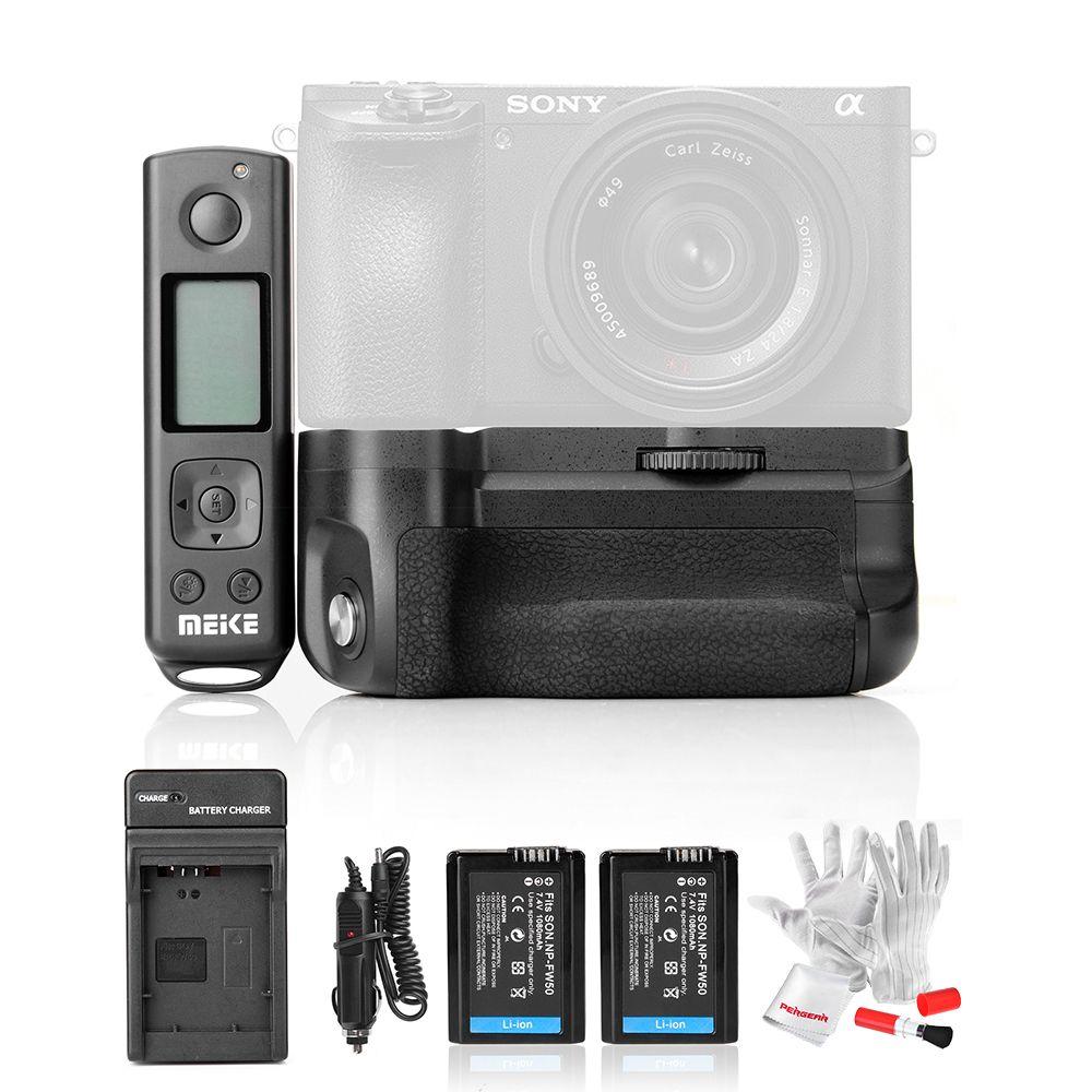 Mit Batterie Meike MK-A6500 Pro Batteriegriff Eingebaute 2,4 Ghz Fernbedienung für Sony A6500 Rremote Steuer Vertikale Schießen