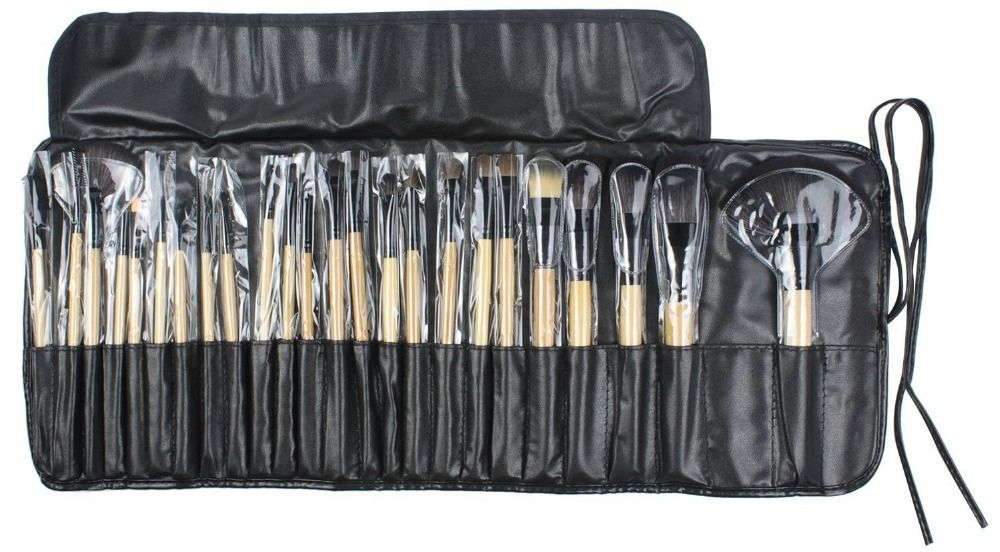 TOP Professional 24pcs Makeup Brush Set Tools Make-up Toiletry Kit Wool Brand Make Up Brush Set Case Drop Shipping