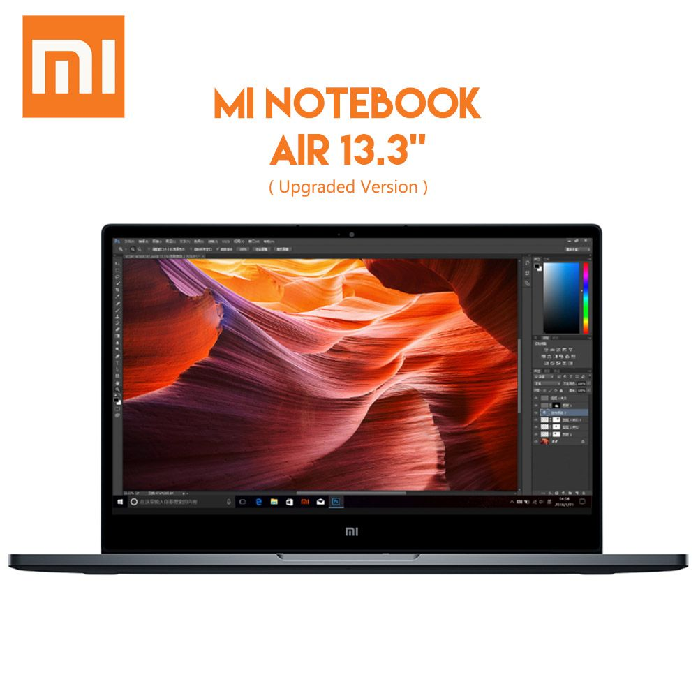 Original Xiaomi Mi Notebook Air 13.3 Windows 10 Intel Core i7 - 8550U Quad Core Laptop 8GB RAM 256GB SSD Fingerprint