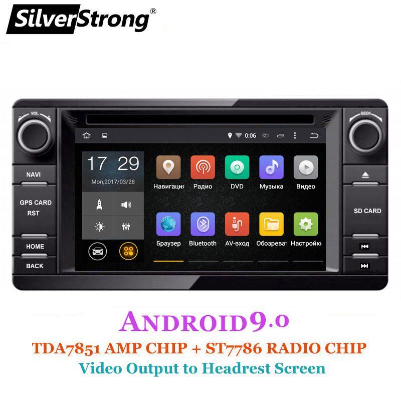 SilverStrong Android9.0 2Din Radio Auto DVD GPS Für MITSUBISHI OUTLANDER 2017 2014 2015 2016 GPS für PAJERO ASX 4G radio BT 4,0