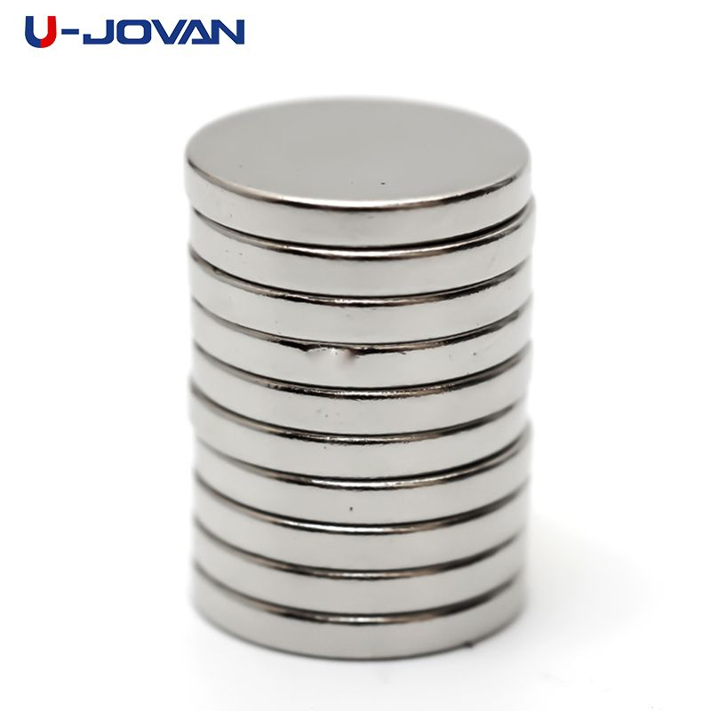 U-JOVAN 25pcs 12 x 2mm N35 Mini Small Disc Round Super Strong Powerful Rare Earth Neodymium Magnets