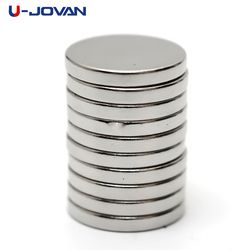 U-JOVAN 25pcs 12 x 2mm N35 Mini Small Disc Round Super Strong Powerful Rare Earth Neodymium Magnets