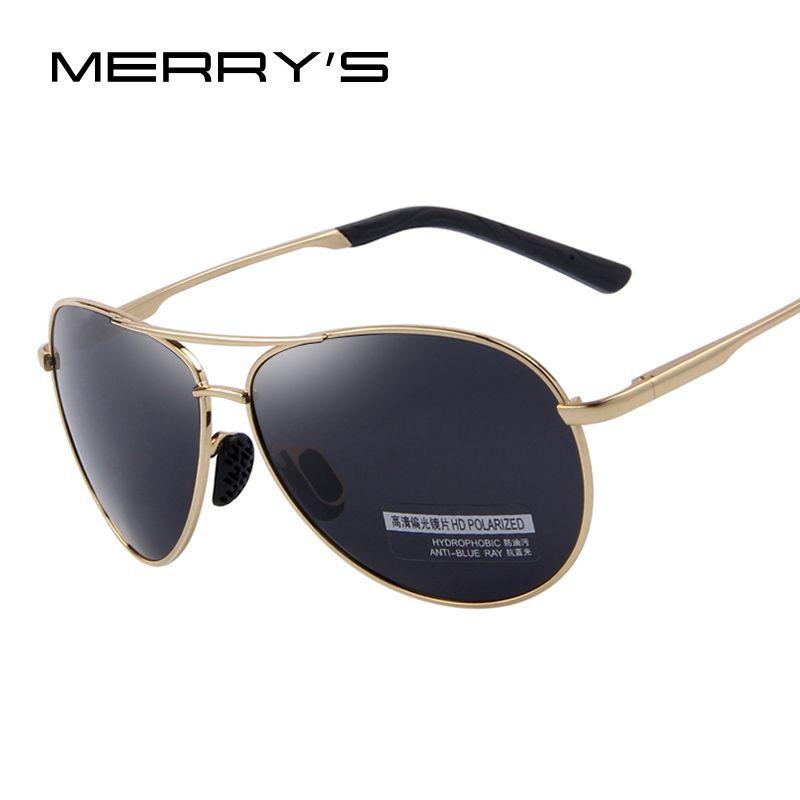 MERRYS Mode Herren UV400 Polarisierte Sonnenbrille Männer Fahren Schild Brillen Sonnenbrille