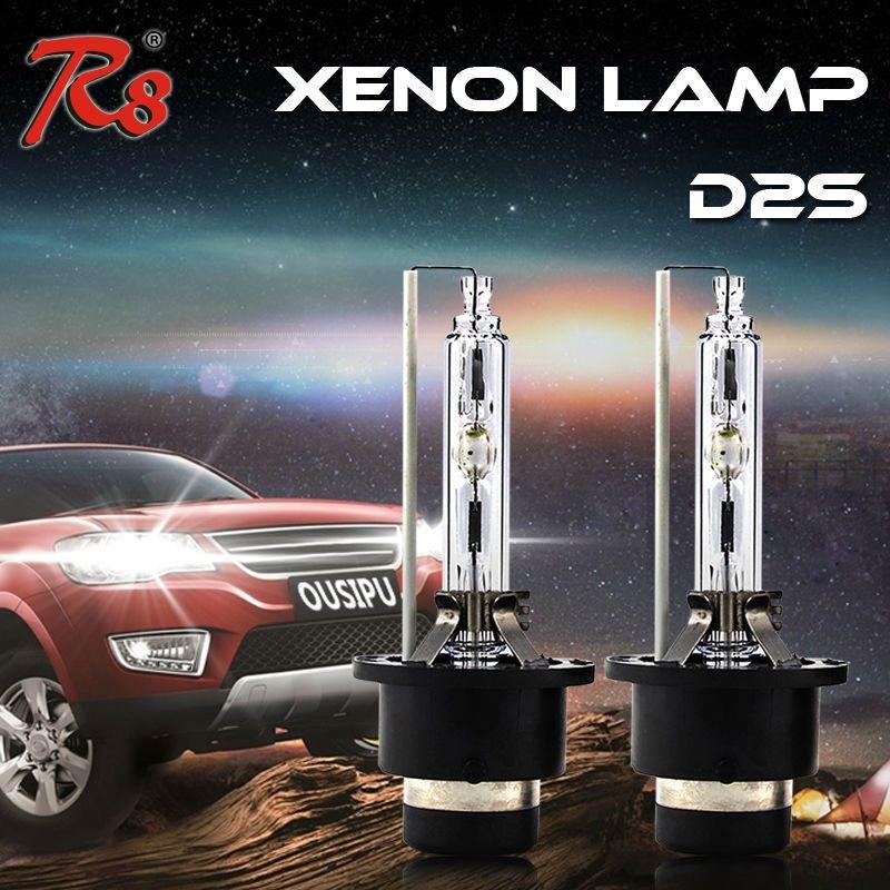 Из 2 предметов R8 Новый Дизайн HID фар D2 D2S ксеноновая лампа автомобилей OEM Замена лампы 35 Вт 4300 К 6000 К 8000 К хорошее качество