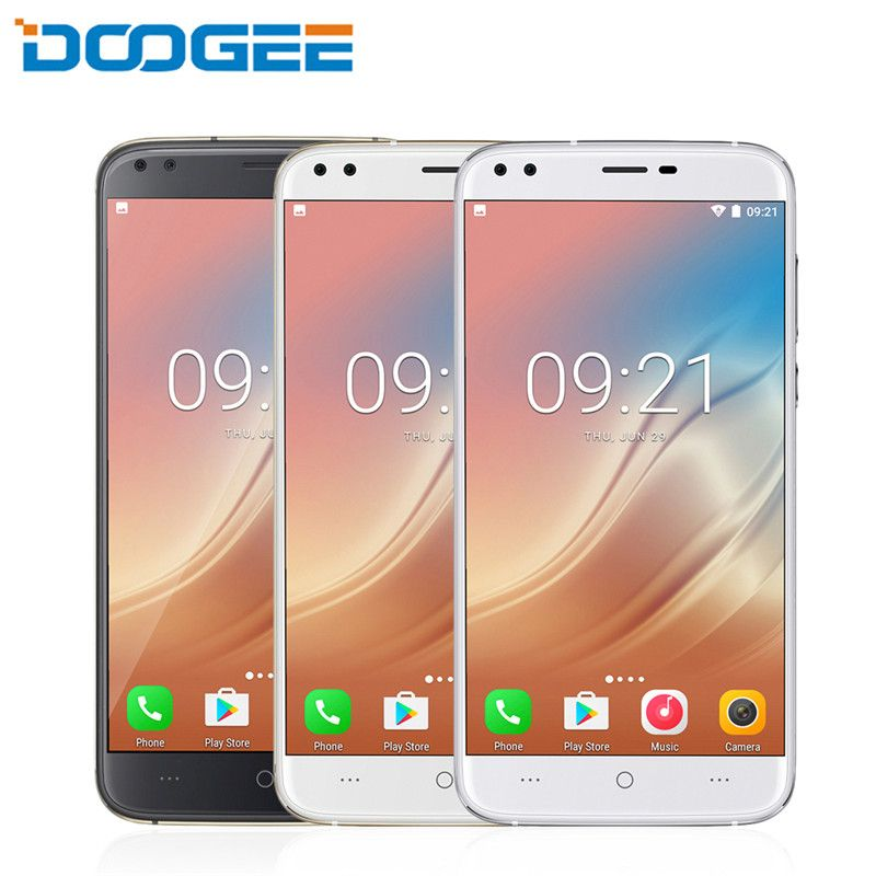 DOOGEE X30 2GB 16GB Mobile phone 4 Camera 2x8.0MP+2x5.0MP 5.5 inch HD MTK6580A Quad Core Smartphone Android 7.0 3360mAh Dual SIM