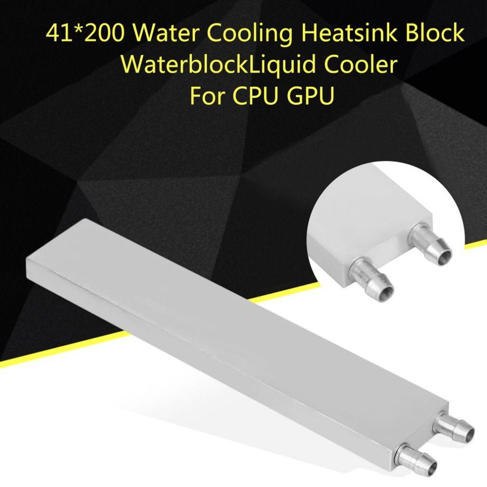 Aluminium 41x200x12mm Interne Strömungskanal Extrusionsformen Wasserkühlung Kühlkörper Block Kühler Flüssigkeitskühler Für CPU