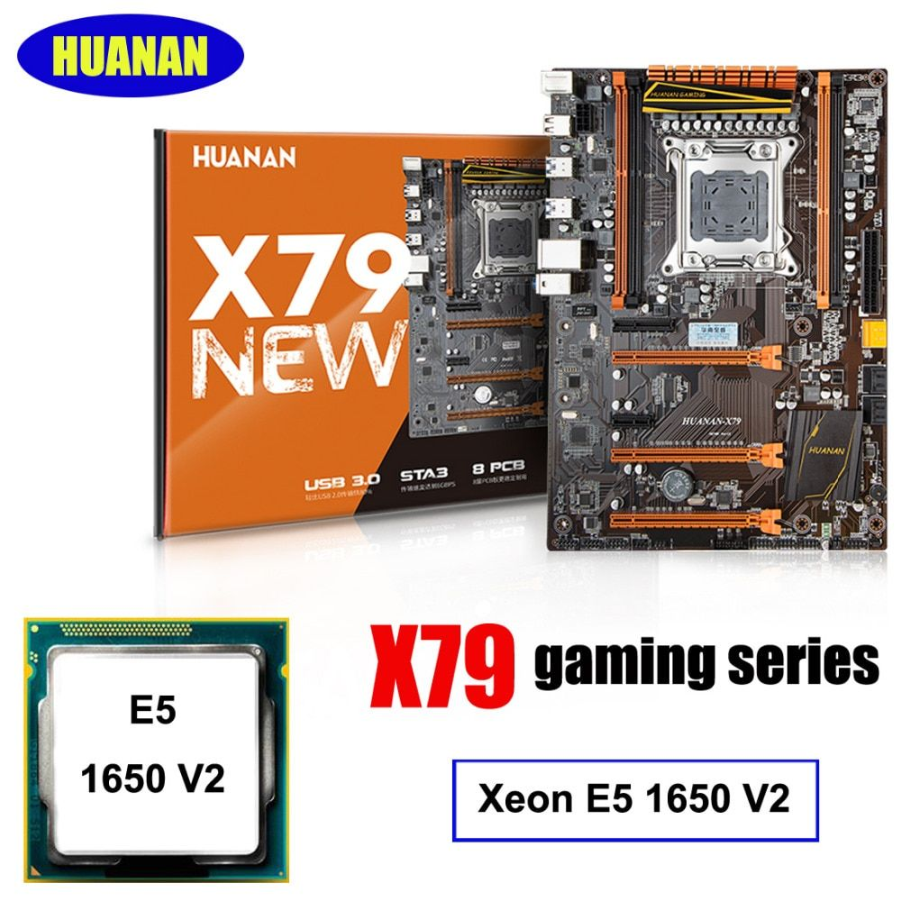 Gebäude computer HUANAN deluxe X79 LGA2011 gaming motherboard CPU combos prozessor Xeon E5 1650 V2 unterstützung 64G speicher