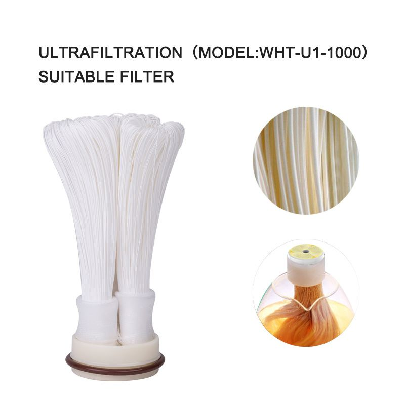 Wheelton Cartridge 304 Stainless Steel Water Filter PVDF Ultrafiltration Purifier,1000L,Home Kitchen Drink Straight UF Filters