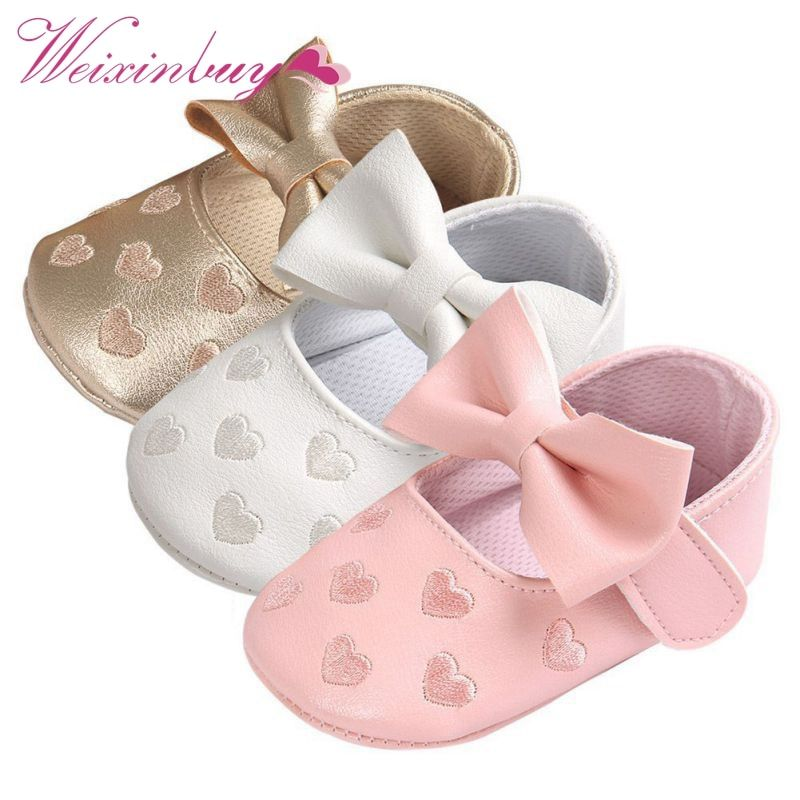 Bebe PU Leather Baby Boy Girl Baby Moccasins Moccs Shoes Bow Fringe Soft Soled Non-slip Footwear Crib Shoes