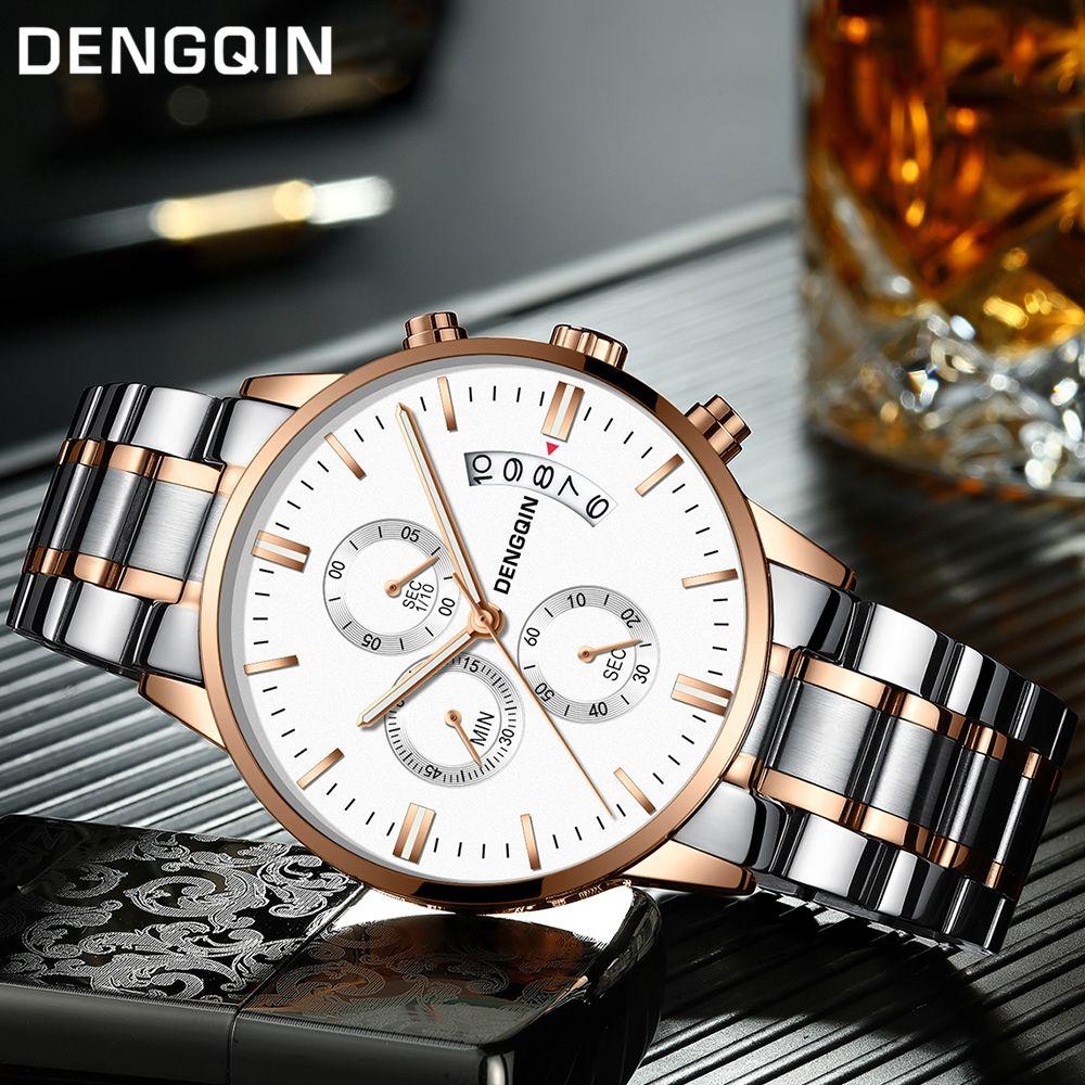 DENGQIN Relogio Masculino Men Watches Luxury Famous Top Brand Men's Fashion Casual Dress Watch Military Quartz Wristwatches Saat