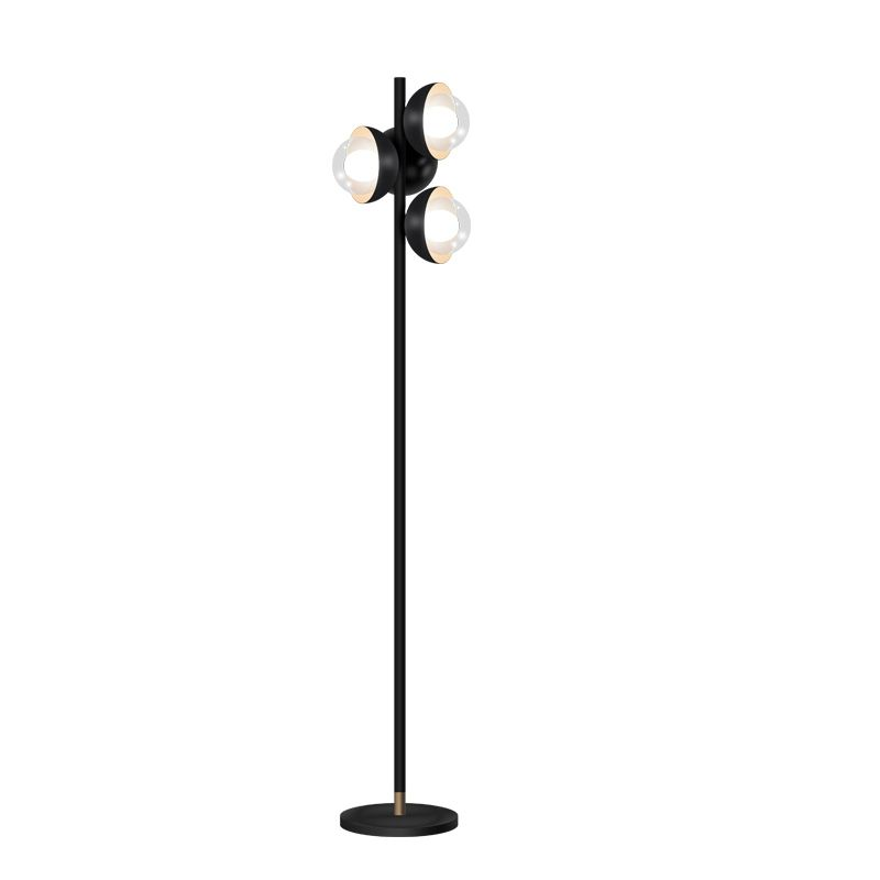 Kung Simple Modern Floor lamps black color body clear galss lampshade Creative Night standing lamp G9 led bulb post modern light