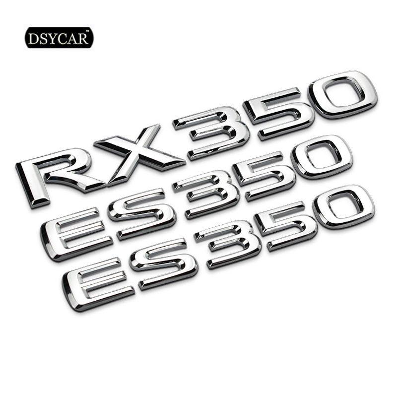 Dsycar 1Pcs 3D Metall ES350 RX350 Auto Seite Fender Hinten Stamm Emblem Abzeichen Aufkleber Decals für Lexus es RX auto Styling