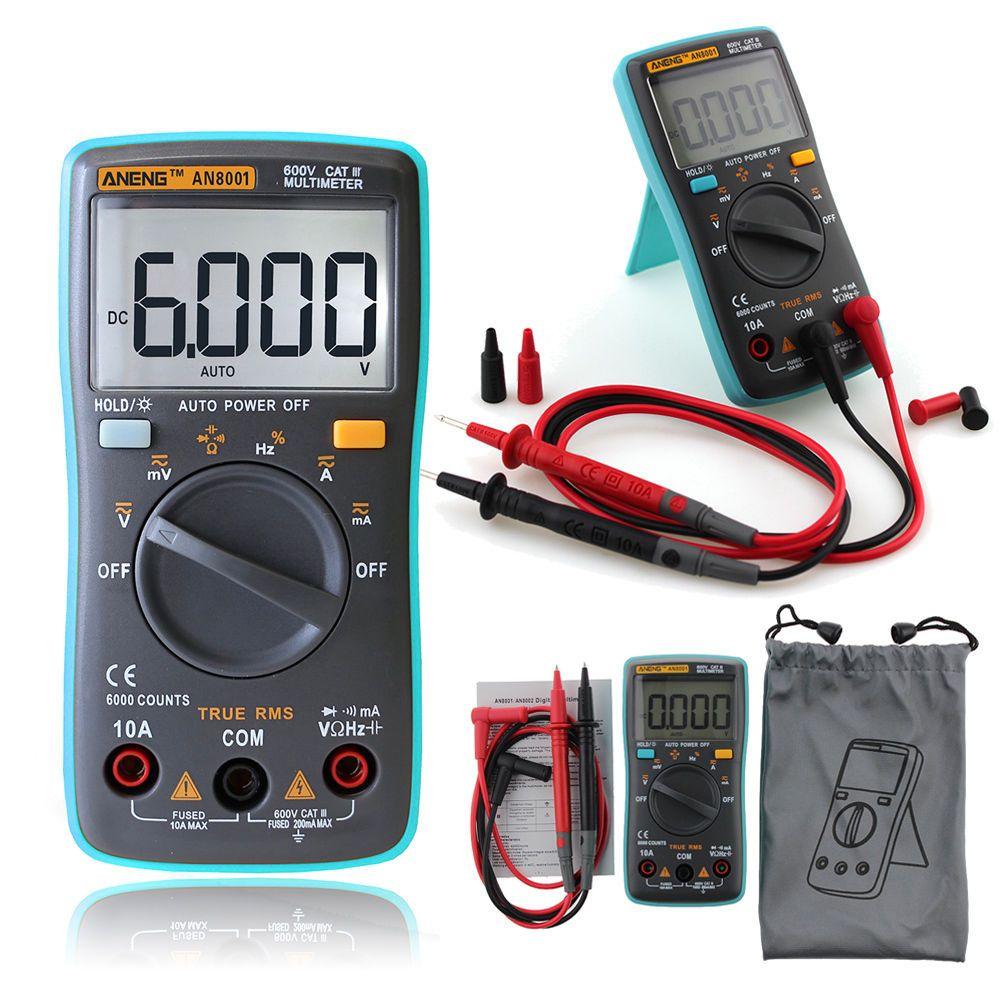Digital Multimeter Backlight AC/DC Ammeter Voltmeter Ohm Portable Meter