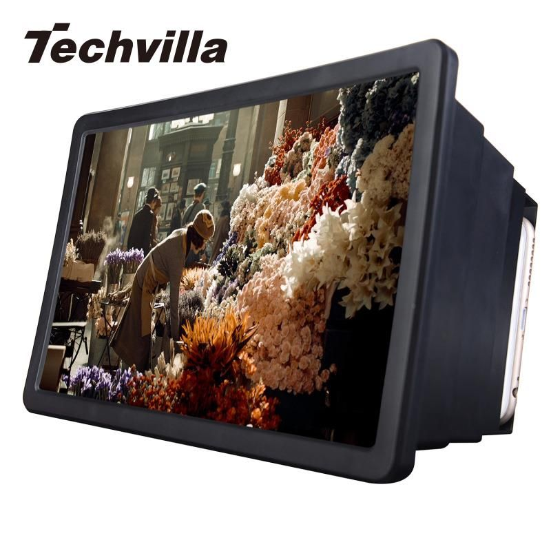 Techvilla Handy Bildschirm Lupe Verstärker Expander Ständer Halter für 3D Film Display