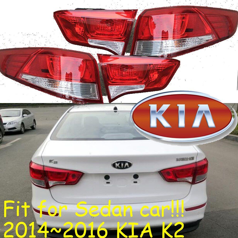 Sedan car use,KlA K2 taillight,Halogen,2014~2016year,Free ship!SportageR,soul,spectora,k 5,sorento,kx5,ceed,K2 rear lamp;k 2,Rio