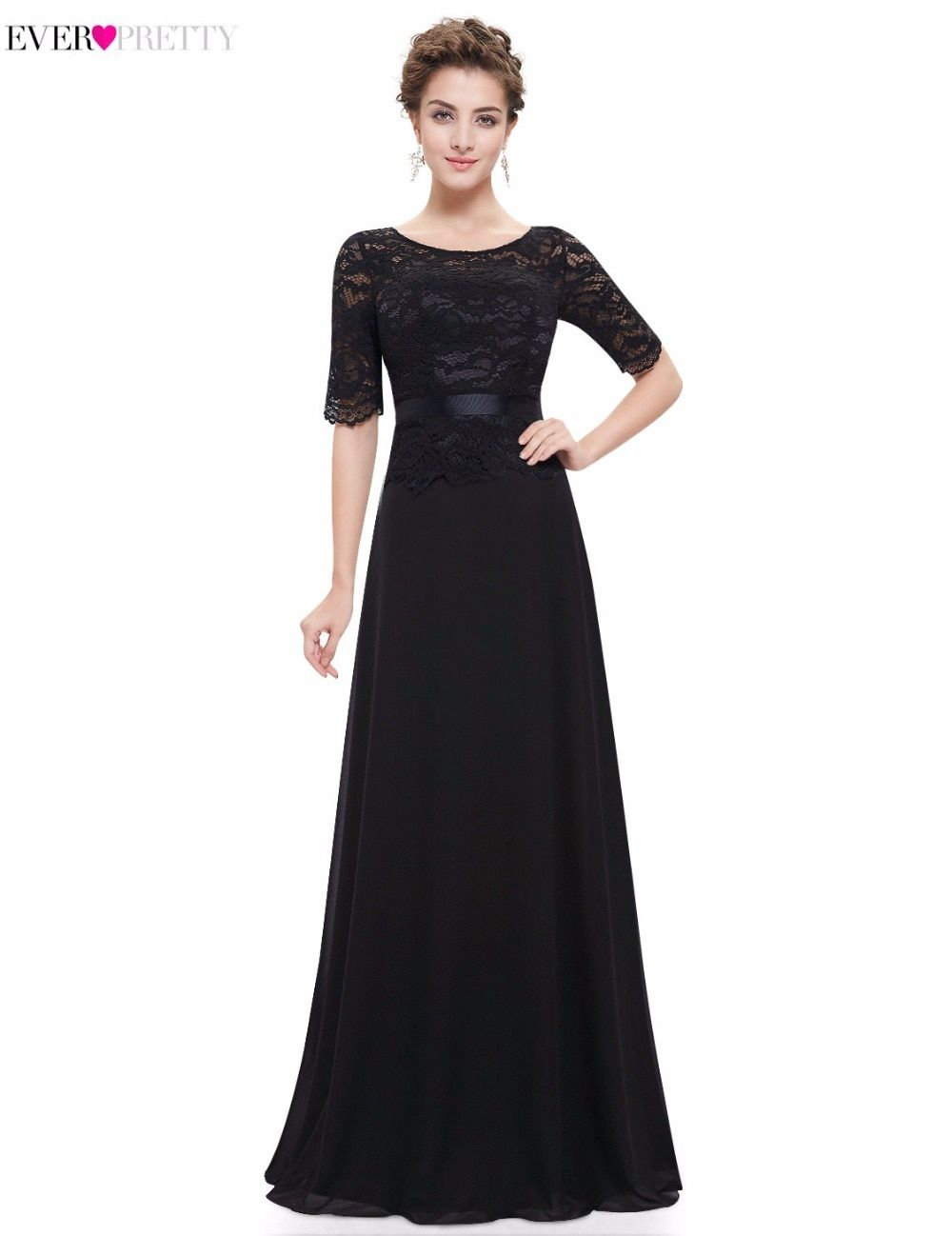 [Clearance Sale] Elegent Floor Length Ever Pretty HE08847 Evening Dresses 2017 New Lace Half Sleeves Formal Evening Prom Dress
