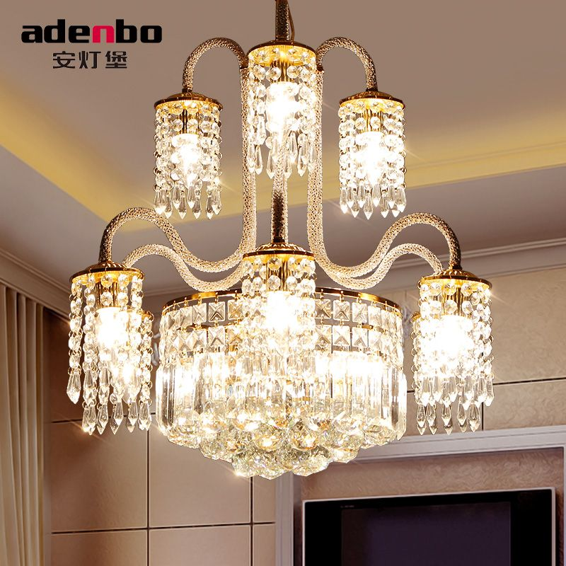 Modern Gold LED Crystal Chandeliers Lighting Fixtures For Dining Room And Bedroom Lighting (ADB1138)