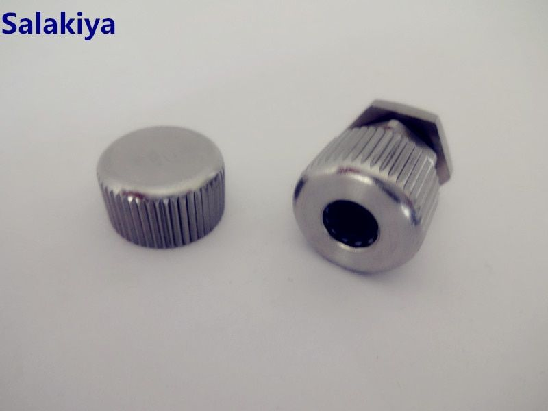 Thread M12mm Thermowell Connector With Cap And Black Silicone Seal Ring Stainless Steel 304,Thermowell Nipple