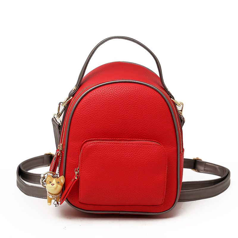 Backpack Women Fashion PU Leather Female Backpacks 2018 Small Bags for Girls Zipper Solid Women Bags Teenage Girls Shoulder Bag
