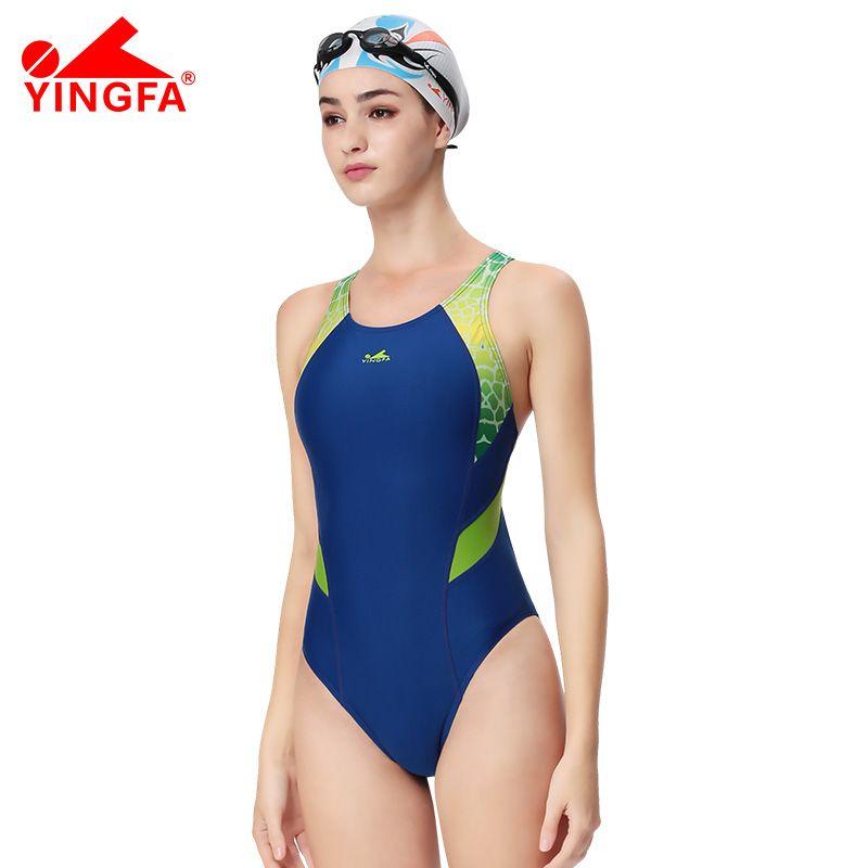 Yingfa compétition professionnelle sport une pièce triangle étanche maillots de bain enfants femmes formation maillots de bain maillot de bain