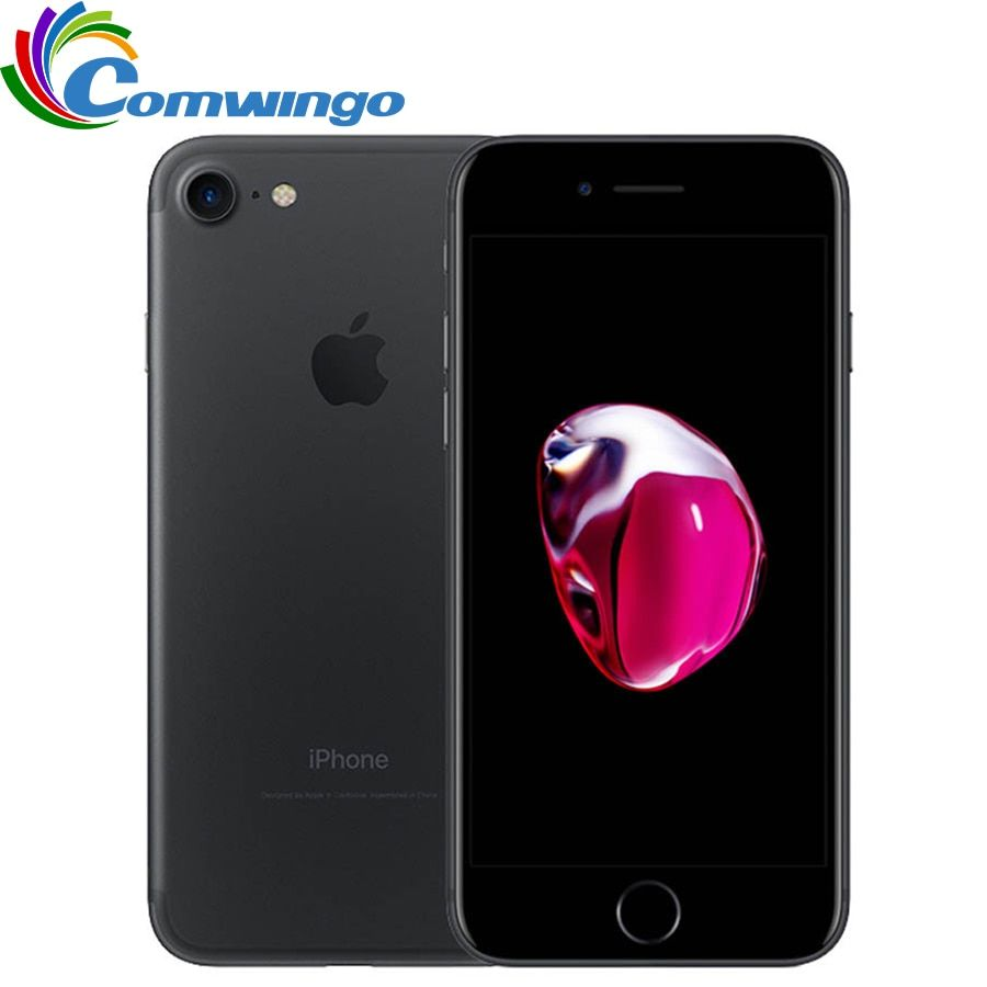 Entsperrt Apple iphone 7 32/128 gb/256 gb IOS 10 12.0MP 4g Kamera Quad-Core Fingerprint 12MP 2910mA iphone 7 LTE Handy
