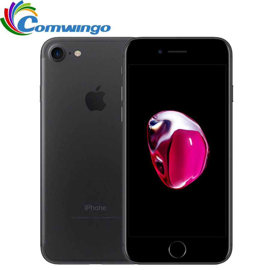 Entsperrt Apple iPhone 7 32/128 GB/256 GB IOS 10 12.0MP 4G Kamera Quad-Core Fingerabdruck 12MP 2910mA iphone7 LTE Handy