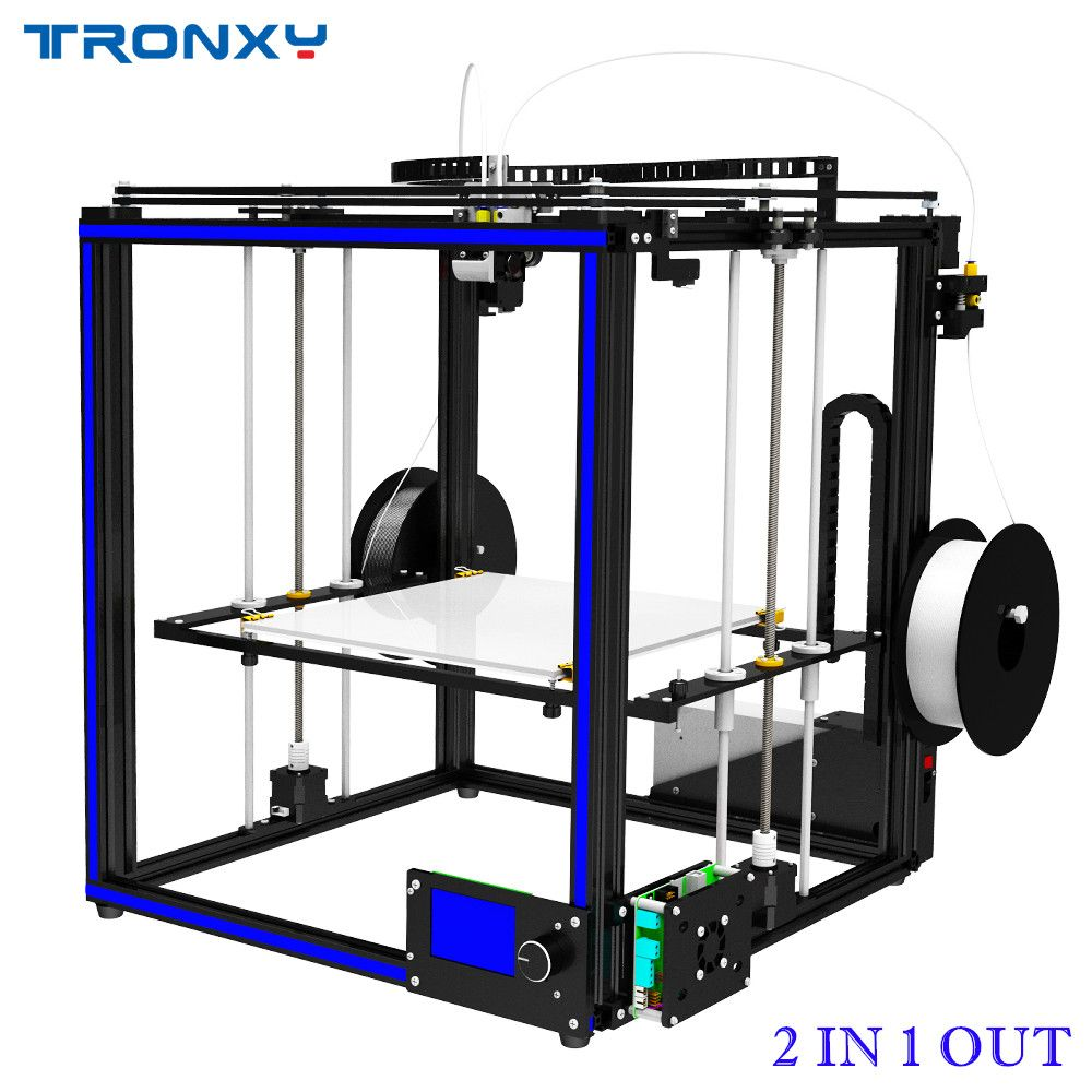 Tronxy Dual Extruder 2 in 1 out 3D Printer Multi color cyclops head DIY kits Nice Upgrade for two color gradients printing