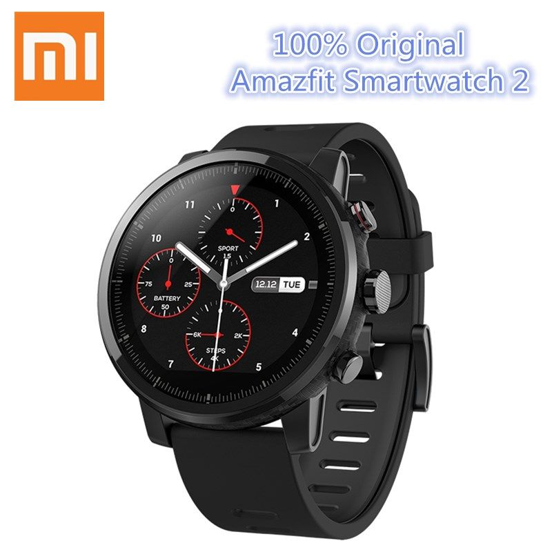 Huami Amazfit Smartwatch 2 Running xiaomi Watch GPS Xiaomi Chip Alipay Payment Bluetooth 4.2 Bidirectional for iOS/Android Phone