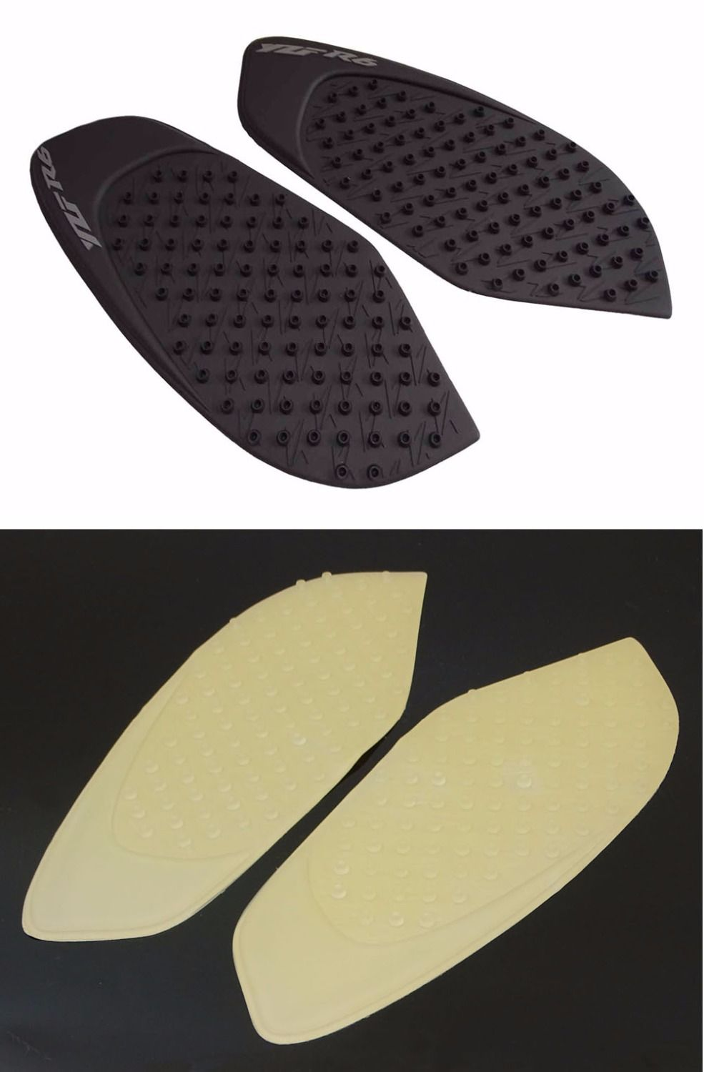 waase Tank Pad Protector Sticker Decal Gas Knee Grip Traction Pad Side 3M For Yamaha YZF R6 2008 2009 2010 2011 2012 2013-2016