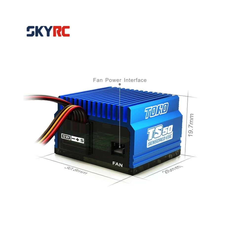 SkyRC TS50 50A 2S LiPo Battery Brushless Sensored/Sensorless ESC with 6V/2A BEC for 1/10 Buggy Touring Car