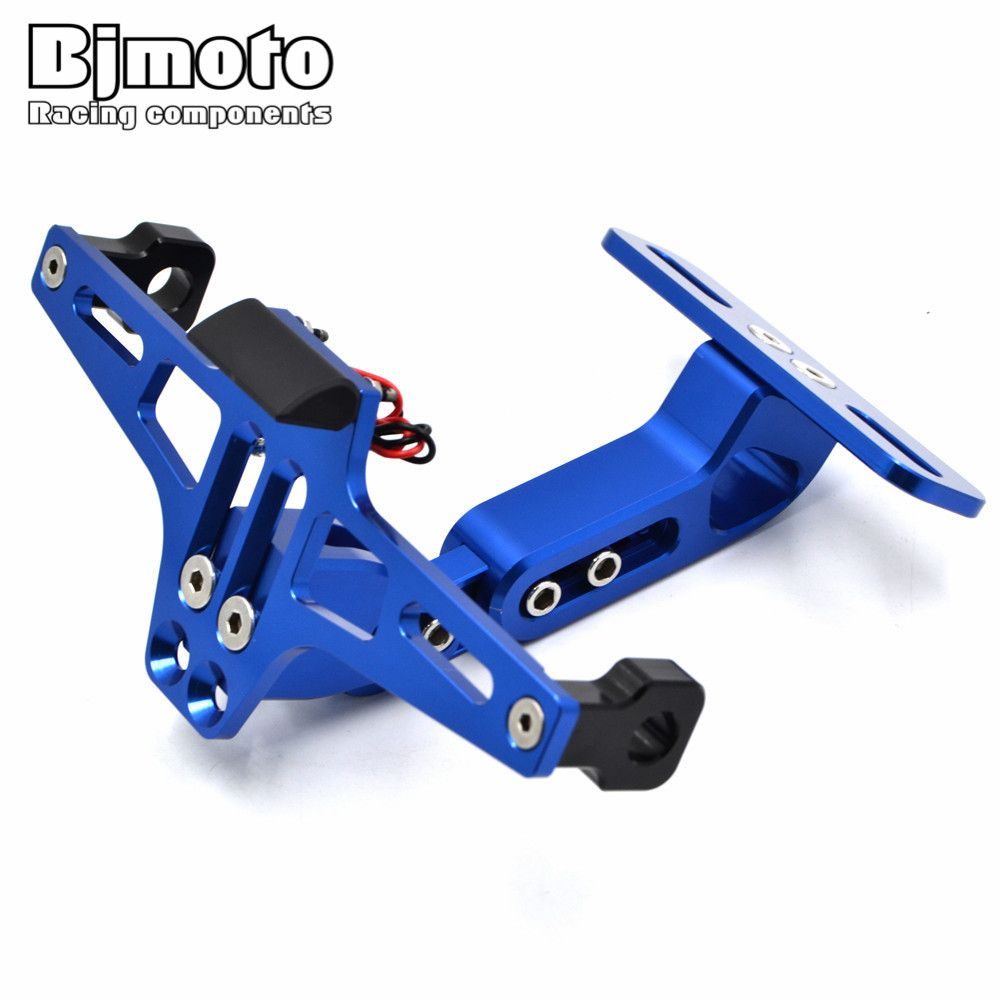 Moto Angle Réglable D'immatriculation En Aluminium porte-plaque d'immatriculation Support Pour Yamaha R1 R6 R3 FZ1 FZ6 MT07 MT09 XJ6 TMAX 500 530