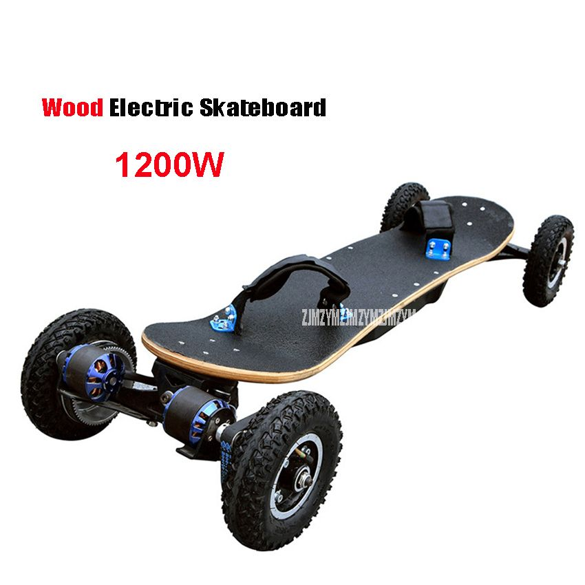 4 Wheels Electric Skateboard Double Motor Electric Longboard Scooter Boosted Board E-scooter Hoverboard Wood Board 1200W Power