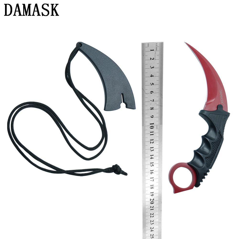Damast Marke Neue Ankunft CSGO Counter Strike Camping Messer Feine Qualität Edelstahl Outdoor Karambit Messer Hot Beste Geschenk