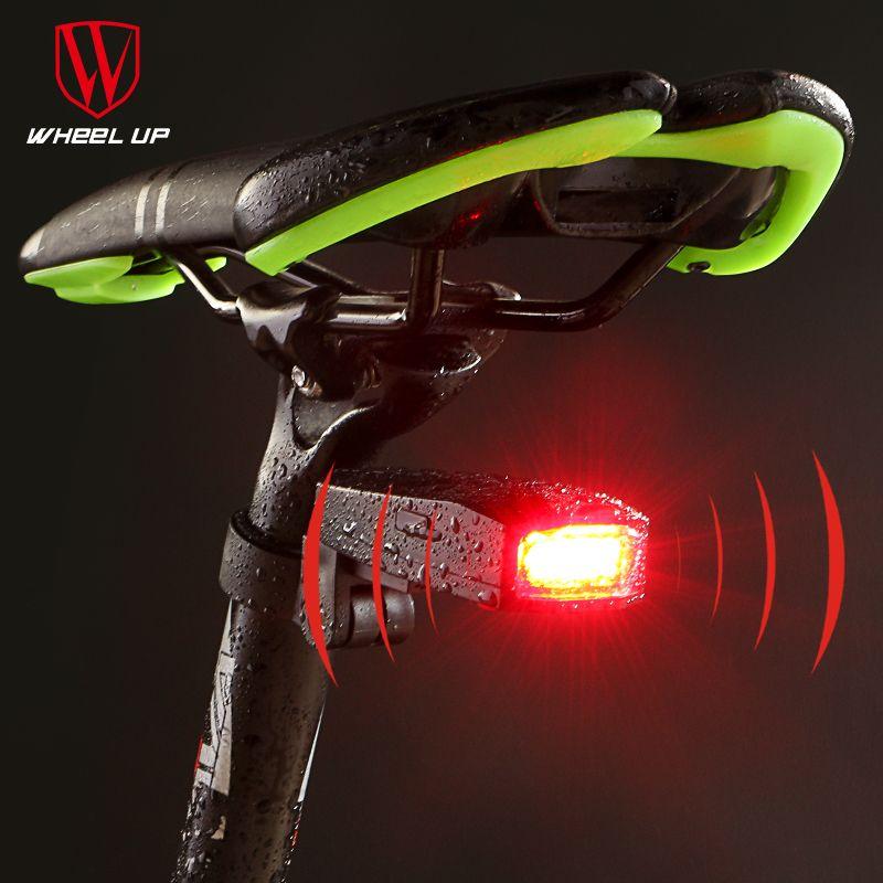RAD UP Neues Design Alarm Fahrrad Rücklicht Intelligente Drahtlose Licht COB Lampe Perlen MTB Straße SOS Radfahren Licht Alarm Rücklicht