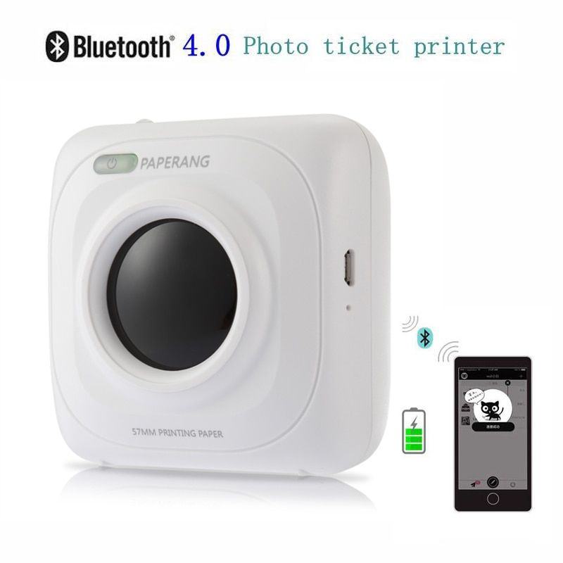 PAPERANG P1 Portable Bluetooth 4.0 Printer Thermal Photo Printer Phone Wireless Connection Printer 1000mAh Lithium-ion Batter