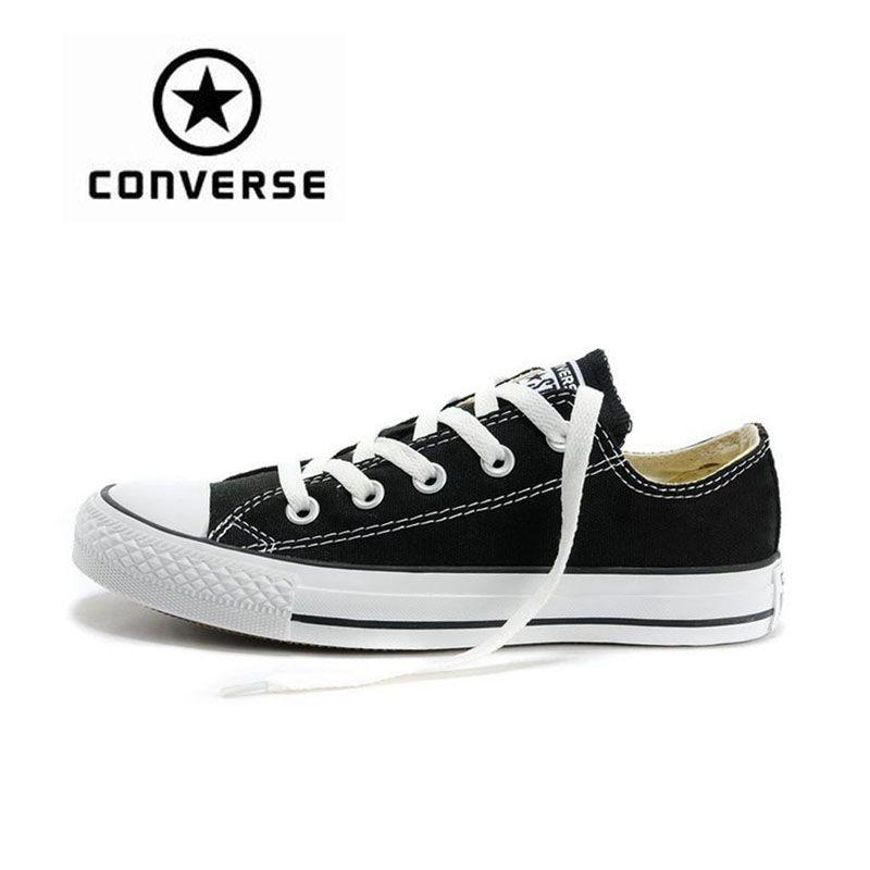 Neue Ankunft Authentischen Converse Classic Canvas Low Top Skateboard Schuhe Unisex Anti Rutschigen Sneakser
