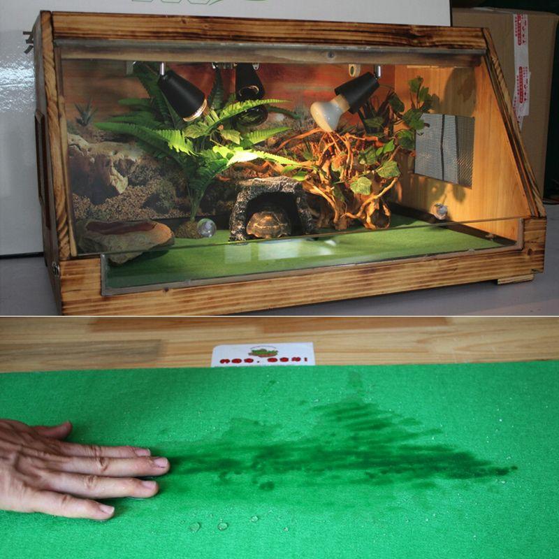 80x40 см рептилий Ковры лайнер змеи ящерицы Террариум большие мягкие полу зеленый материал непроницаемый нижней площадки