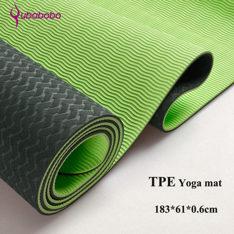 6MM TPE Non-slip Yoga Mats For Fitness Tasteless Brand Pilates Mat 8Color Gym Exercise Sport Mats <font><b>Pads</b></font> with Yoga Bag Yoga Strap