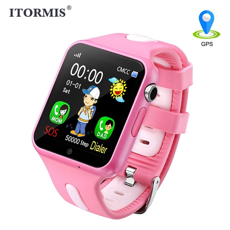 ITORMIS Smart Watch Kids GPS Watch Smart Baby Watch Phone Smartwatch for Child with Location Waterproof Touch Screen PK Q50 Q90