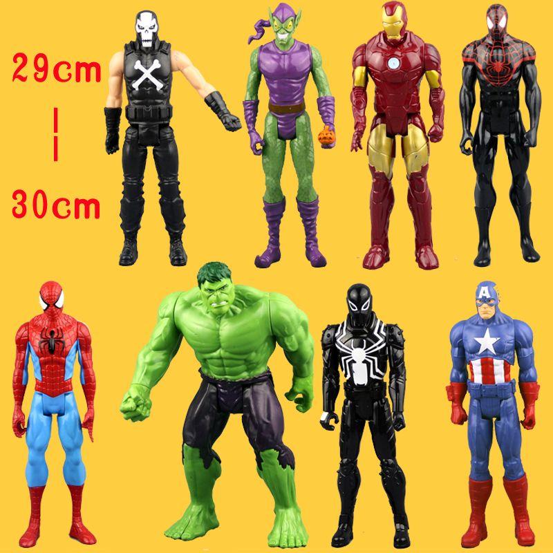 (Pas de boîte) livraison gratuite un incroyable Spider-Man Captain America Iron Man Spiderman 30 CM Ultra figurine jouets