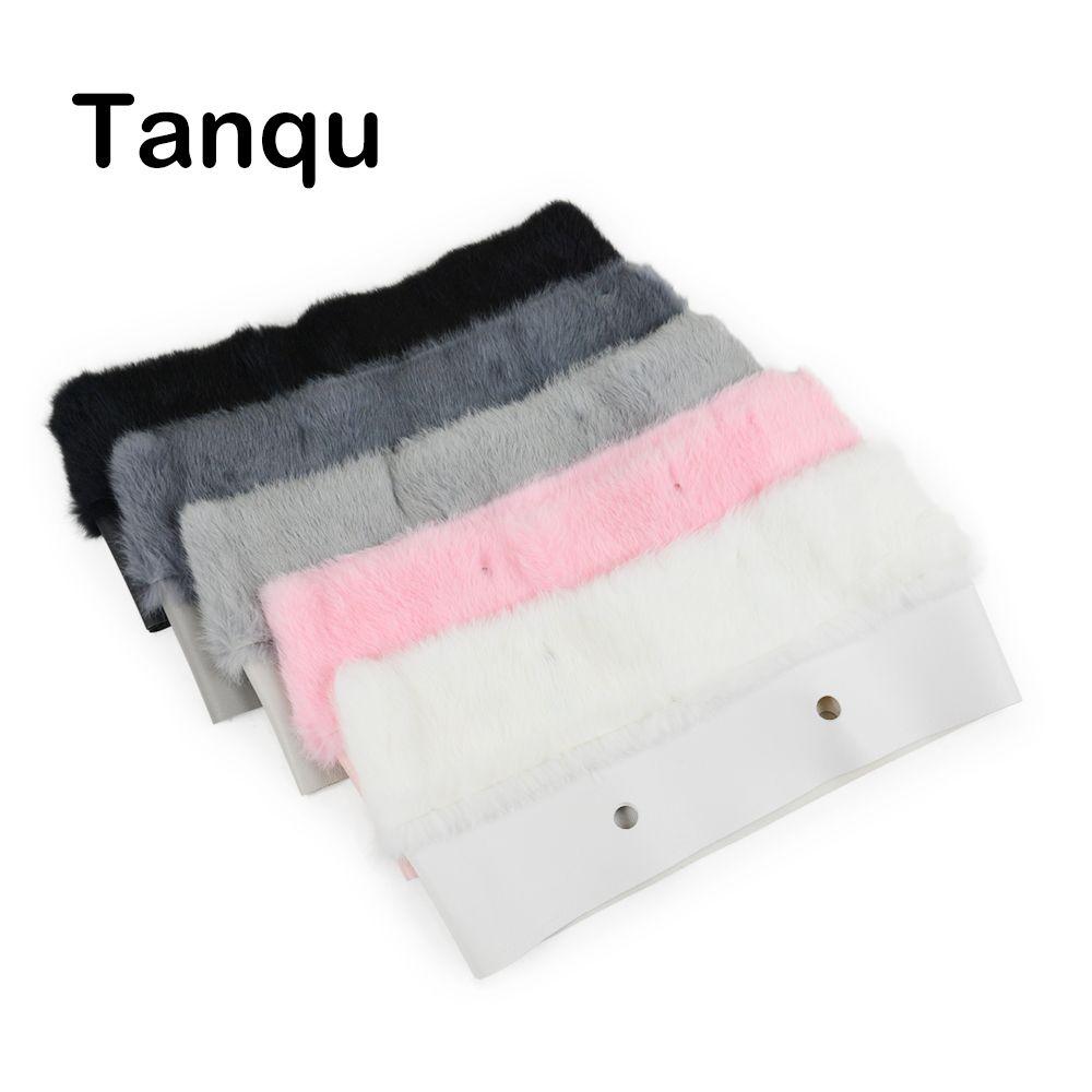 Tanqu New 11 Colors Women Bag Plush Trim for O BAG Thermal Plush Decoration Rabbit Fur Fit for Classic Big Mini Obag