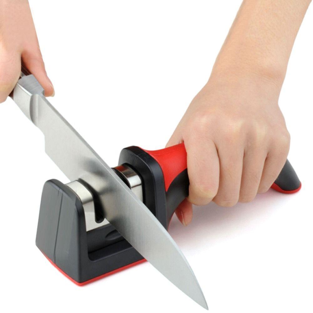 Professional Knife Sharpener Diamond Tungsten Steel Carbide Ceramic Knife Sharpening Kitchen Tools Random Color